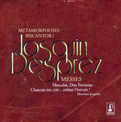 Josquin Desprez: Masses / Métamorphoses Ensemble; Biscantor Ensemble