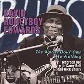 David Honeyboy Edwards: The World Don't Owe Me Nothing