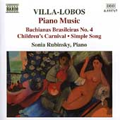 Villa-Lobos: Piano Music Vol 4 / Sonia Rubinsky