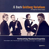 Bach: Goldberg Vvariations / Homecoming Woodwind Ensemble
