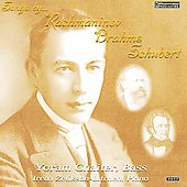 Songs - Schubert, Brahms, Rachmaninov / Zelikson-Litchen