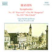 Haydn: Symphonies 45, 94, 101