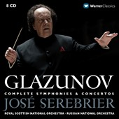Glazunov: Complete Symphonies, plus concertos & suites / Jose Serebrier [8 CDs]