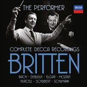 Benjamin Britten: The Performer - Complete Decca Recordings of the music of Bach, Debussy, Elgar, Mozart, Purcell, Schubert & Schumann [27 CDs]
