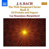 J.S. Bach: The Well-Tempered Clavier Book 2 (24 preludes & fugues) / Luc Beauséjour, harpsichord