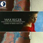 Reger: Three Sonatas for Unaccompanied Violin / Mathé