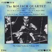 The Kolisch Quartet plays Schubert Quartets