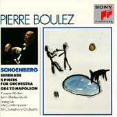 Schoenberg: Serenade, 5 Pieces, Ode / Pierre Boulez