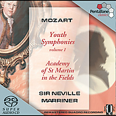 Mozart: Youth Symphonies Vol 1 / Sir Neville Marriner, ASMF