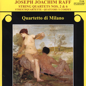 Raff: String Quartets no 2 & 6 / Milan String Quartet