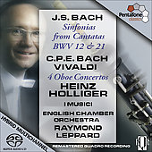 J.S. Bach: Sinfonias;  C.P.E. Bach, Vivaldi / Leppard, Holliger, et al