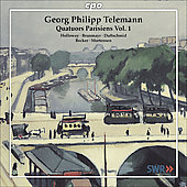 Telemann: Quatuors Parisiens Vol 1 / Holloway, Brunmayr, Duftschmid, Becker, Mortensen