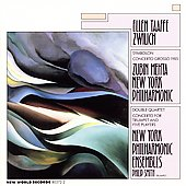 Zwilich: Symbolon, Concerto Grosso 1985, Double Quartet