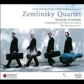 Alexander Zemlinsky: String Quartets nos 2 & 4; Two Movements (1927) / Zemlinsky Quartet