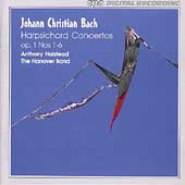 J.C. Bach: Harpsichord Concertos Op 1 / Anthony Halstead