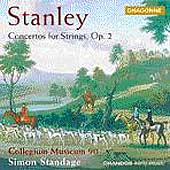 Stanley: Concertos for Strings Op 2 / Simon Standage, et al