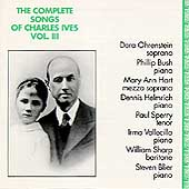 The Complete Songs of Charles Ives Vol 3