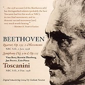 Beethoven: Symphony no 9, Quartet Op 135 / Toscanini, et al