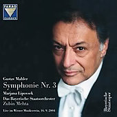 Mahler: Symphony no 3 / Mehta, Lipovsek, et al