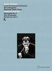 Brahms: Serenade No. 2, Op. 16; Alto Rhapsody; Symphony No. 2 / Lucerne Festival Orchestra; Andris Nelsons (Opening Concert 2014) [DVD]