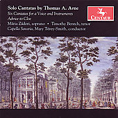 Arne: Solo Cantatas / T&eacute;rey-Smith, Z&aacute;dori, Bentch, et al