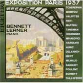 Exposition Paris 1937 - Piano Works / Bennett Lerner