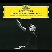 Beethoven: Symphonien no 3 & 4 / Karajan, Berlin PO