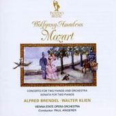 Mozart: Concerto for Two Pianos & Orchestra, K.365; Sonata for Two Pianos, K.448; Fugue for Two Pianos, K.426 / Alfred Brendel & Walter Klien, pianists