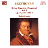 Beethoven: Complete String Quartets Vol 3 / Kod&aacute;ly Quartet