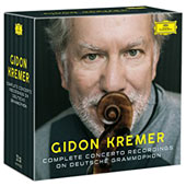 Gidon Kremer: Complete Concerto Recordings on Deutsche Grammophon - Violin Concertos by Bach, Beethoven, Brahms, Liszt, Mozart, Vivaldi, & more / Gidon Kremer, violin; various artists [22 CDs]