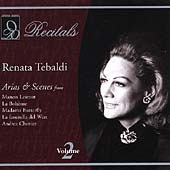 Recitals - Renata Tebaldi Vol 2 - Arias & Scenes