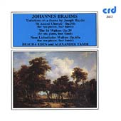 Brahms: Haydn Variations, 16 Waltzes, etc / Eden, Tamir