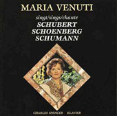 Maria Venuti sings Schubert, Schoenberg, Schumann