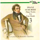 Schubert: Works For Four Hands 3 / Rodolfo Llambias, Tove Lnskov