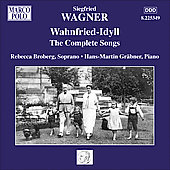 Siegried Wagner: Wahnfried-Idyll - Complete Songs