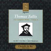 Tallis - Complete Works Vol 1 / Dixon, Chapelle du Roi