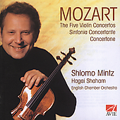 Mozart: The Five Violin Concertos, etc / Mintz, et al