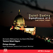 Saint-Sa&#235;ns: Symphony no 3;  Widor;  et al / B&#233;langer, et al