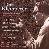 Brahms, Schubert, Strauss / Otto Klemperer, et al