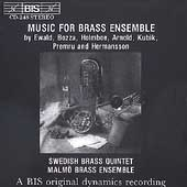 Music for Brass Ensemble by Ewald, et al / Swedish, Malm&#246;
