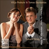Grieg: Works for Piano Duo, Vol. 1 / Vilija Poskute and Tomas Daukantas, pianists