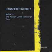Hanspeter Kyburz: Malstrom, Voynich Cipher, Parts / Rundel
