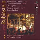 Rubinstein: Symphony no 2, etc / George Hanson, Wuppertal SO