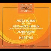 Martinu: Chamber Music / Alain Marion, Marc-Andr&eacute; Hamelin