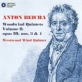 Reicha: Complete Woodwind Quintets Vol 8 / Westwood Wind Quintet
