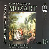 Mozart: Complete Clavier Works Vol 10 / Siegbert Rampe