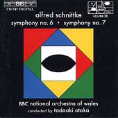 Schnittke: Symphonies no 6 & 7 / Otaka, BBC NO of Wales