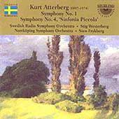 Atterberg: Symphony no 1 & 4 / Westerberg, Swedish RSO