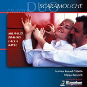 Milhaud, Brahms, De Falla, Ravel - works for piano 4-hands / Malvina Renault-Vieville; Filippo Antonelli, pianists