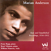 Marian Anderson - Rare and Unpublished Recordings 1936-1952